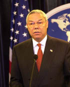 Secretary Powell presenting the State Department�s Country Reports on Human Rights Practices for 2001