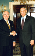 Secretary Powell with Australian Prime Minister John Howard