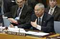 Secretary Powell speaking to the UN Security Council on March 7, 2003. ,UN Photo by Sophie Paris,