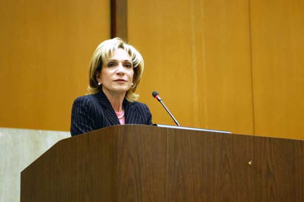 Photo of Andrea Mitchell at the State Dept. State Dept. photo.