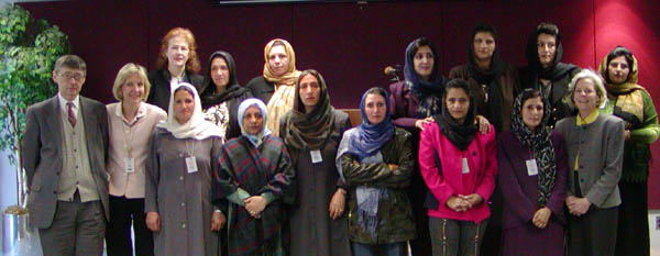 Senior Coordinator for International Womens Issues, Charlotte Ponticelli, meets with Afghan women teachers.