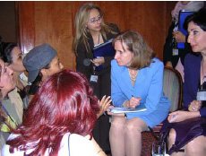 Under Secretary of State for Global Affairs, Paula Dobriansky, with participants of Business Womens Summit, Tunis, Tunisia, May 24, 2005. [State Department photo]