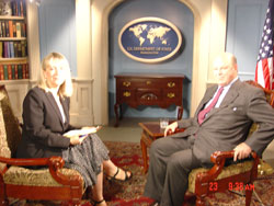Ambassador Wisner discusses Kosovo status talks with Maja Drucker on Voice of Americas Serbian Service.