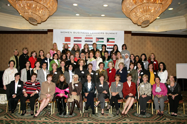 Participants at the opening session of the Women Business Leaders Summit-Jordan in Amman February 27, 2007. Photo courtesy Robina Studio.