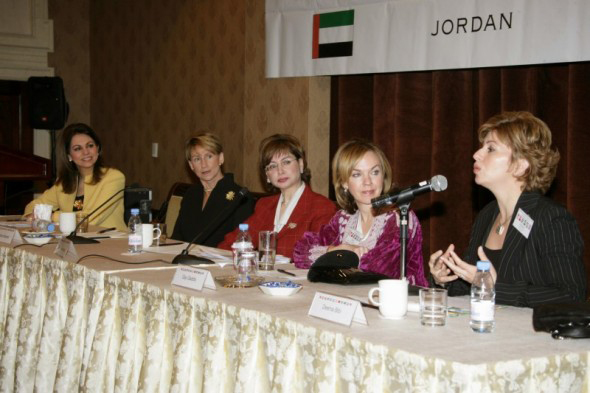 Women Business Leaders Summit panel discussion in Amman, Jordan, February 2007. State Department Photo