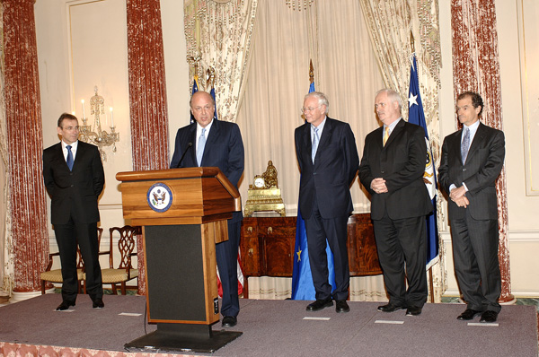 Deputy Secretary Negroponte speaks at ceremony commemorating the 50th Anniversary of the Signing of the Treaties of Rome. State Dept. photo