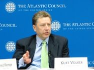 Principal Deputy Assistant Secretary delivers remarks at the Atlantic Council of the United States.  Photo courtesy of the ACUS