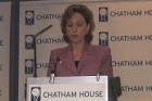 Deputy Assistant Secretary of State Colleen Graffy delivers remarks at Chatham House, London, Nov. 1, 2007. [U.S. Embassy, London photo]