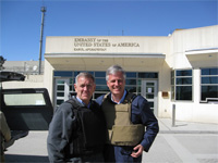 Left to right: Judge David Carter and Robert O'Brien at the American Embassy in Kabul. [State Dept. photo]