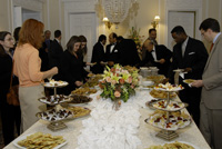 Guests enjoy authentic Afghan cuisine. [State Dept. photo]