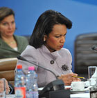 Secretary Rice at the meeting of NATO Foreign Ministers. Photo credit: NATO