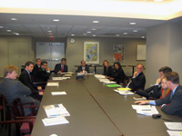 Co-chairmen Ambassador Tom Schweich and Robert O'Brien (seated at the head of the table). [State Dept. photo]