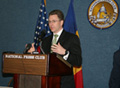 Acting Assistant Secretary Volker delivers remarks at National Press Club Newsmaker Program, Mar. 20, 2008. [Photo courtesy of Embassy of Romania]