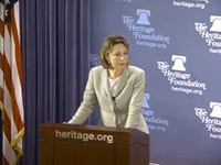 Colleen P. Graffy, Deputy Assistant Secretary for European and Eurasian Affairs, delivers remarks at the Heritage Foundation. [Heritage Foundation photo]