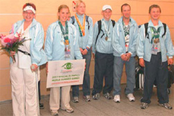 Estonian Special Olympians, October 13, 2007. [With permission from Teet Malsroos]