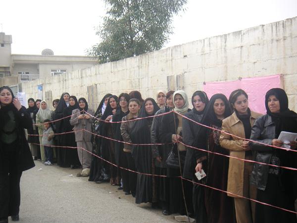 Iraqi Elections: Women Waiting to Vote
