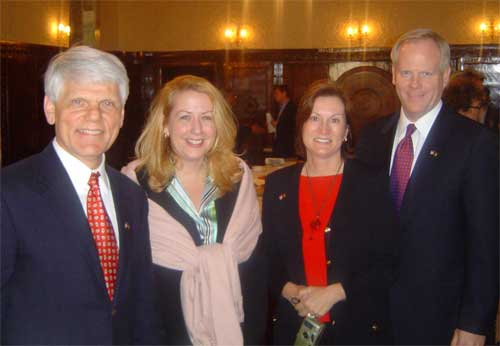 Council members Tim McBride, Connie Duckworth, Cindi Williams, and Jim Kunder, March 29, 2005. State Dept. photo