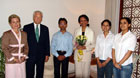 Secretary Rice met with three Patiala students, who represented India in the Space Settlement Design Competition held in the United States in July 2004.