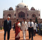 Secretary Rice toured Humanyuns Tomb in New Delhi on March 16, 2005