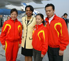 Secretary Rice met with Gold Medal winning skaters