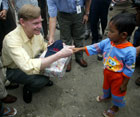During his travel to Southeast Asia, Deputy Secretary Zoellick visited Banda Aceh meeting with a young tsunami survivor.