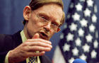 During his travel to Southeast Asia, Deputy Secretary Zoellick speaks at a news conference summing up his week long trip to Southeast Asian nations in Singapore. AP/Wide World photo