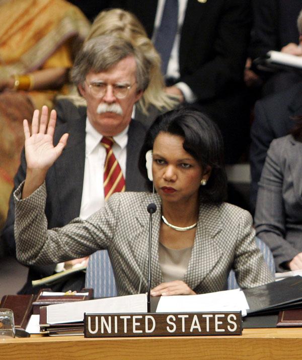 Secretary Rice Votes on UN Security Council Resolution