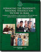 Cover of the report -- Advancing the Presidents National Strategy for Victory in Iraq: Funding Iraqs Transition to Self-Reliance in 2006 and 2007