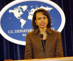 Secretary Rice briefs on The State Departments 2005 Country Reports on Human Rights Practices