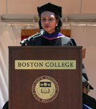 Secretary Rice delivers the 130th Commencement Address at Boston College. Photo by Josie Duckett