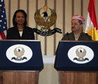 Following their meeting, Masoud Barzani and Secretary Rice held a joint press conference.