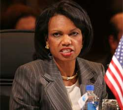 Secretary Rice speaks during 37th General Assembly of the Organization of American States in Panama City, Panama, June 4, 2007. [© AP Images]