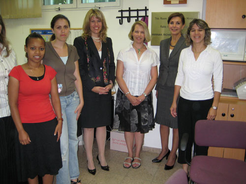 International Womens Issues Senior Coordinator Andrea Bottner, and Deborah Emmert with IWOC awardee Dr. Ruth [Director] and her staff at the Ruth and Emanuel Rackman Center for the Advancement of the Status of Women at Bar-Ilan University's Faculty of Law.