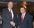 Deputy Secretary Negroponte meets with Philippine Foreign Minister Alberto Romulo at ASEAN meetings in Manila, Philippines, August 1-2, 2007.  State Department photo.