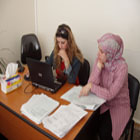 Employees at the South Lebanon Water Establishment receive technical training on new financial practices.