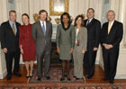 Secretary Rice hosts 2007 ACE multinational winner GE in the Monroe Room, Nov. 6, 2007.
