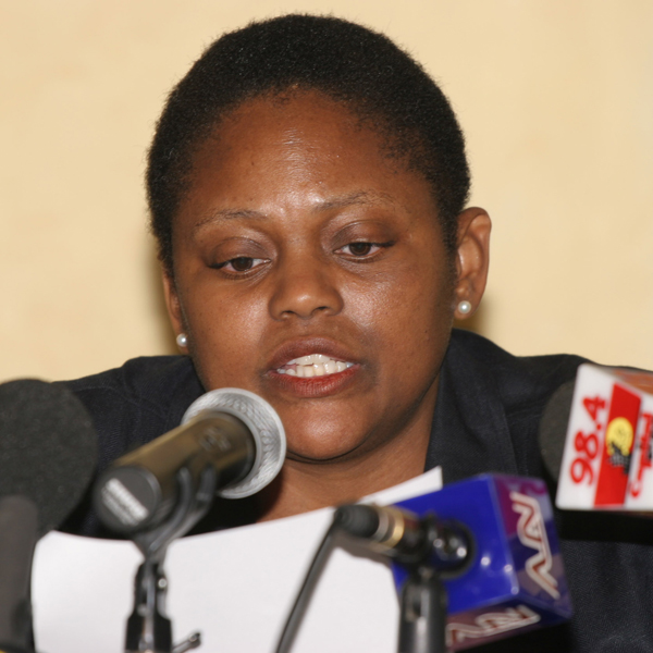 Assistant Secretary for African Affairs Jendayi Frazer speaks during a press conference in Nairobi on her tour concerning Somalia.