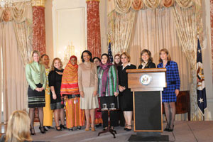 Secretary Rice with recipients of the 2nd Annual International Women of Courage Awards