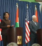 Secretary Rice has press availability with Palestinian President Mahmoud Abbas on March 4 in Ramallah.