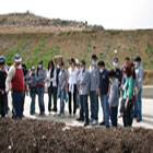 Students examine various waste management processes at the Zahle facility.