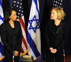 Secretary of State Condoleezza Rice meeting with Israeli Foreign Minister Tzipi Livni.  Photo credit:  Matty Stern/U.S. Embassy - Tel Aviv