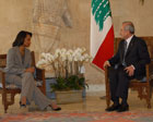 Secretary Rice made a surprise visit to Lebanon to meet Lebanese President Michel Suleiman at the presidential palace. Photo credit: U.S. Embassy - Lebanon