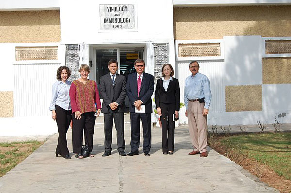 Office Cooperative Threat Reduction Director Matthias Mitman and staff join representatives of the Center for Disease Control in visiting Pakistans National Institute of Health as part of the Bureau's Bio-Engagement Program (BEP) [State Dept. photo]