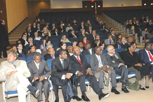 The African diplomatic corps and other audience members attending a special briefing sponsored by African Affairs on February 27, 2008. State Department photo.