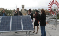 The Clean Energy Group working on a model power system, February 2008. [Photo by SAVE]