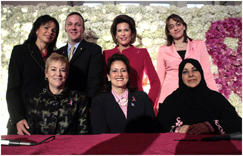 Speakers at the October 7, 2008 Symposium on Breast Cancer Global Awareness.