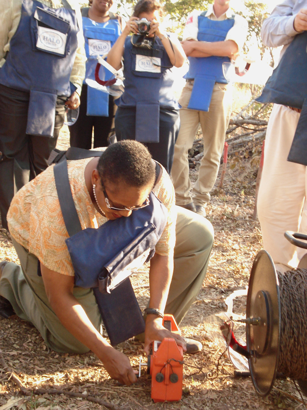 Assistant Secretary Frazer Assists In The Destruction Of A Mine in the Huambo Province of Angola.