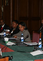 Secretary Rice and Assistant Secretary Frazer at Ministerial-level consultations on Sudan.