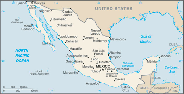 Mexico - Us map mexico