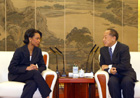 Secretary Rice meets with Chinese Foreign Minister Li Zhao Xing.